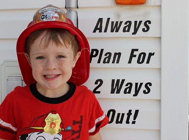 Future firefighter at Open House.