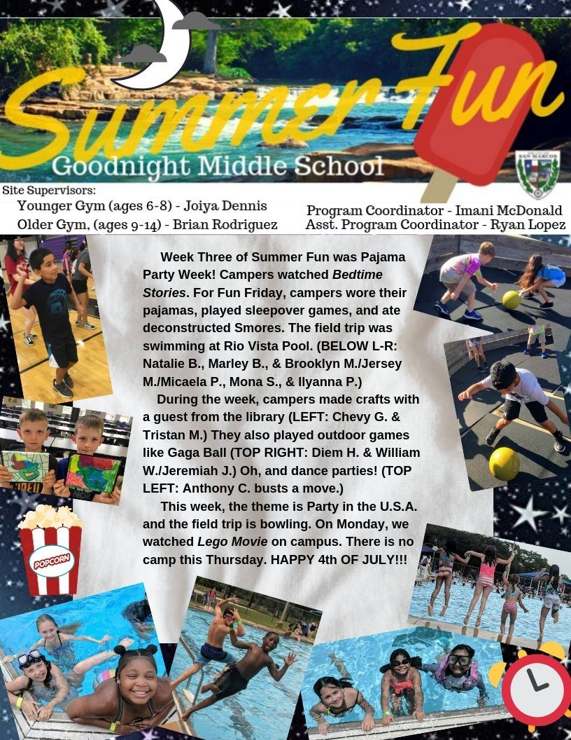 Summer Fun Week Three Blog- Page 1