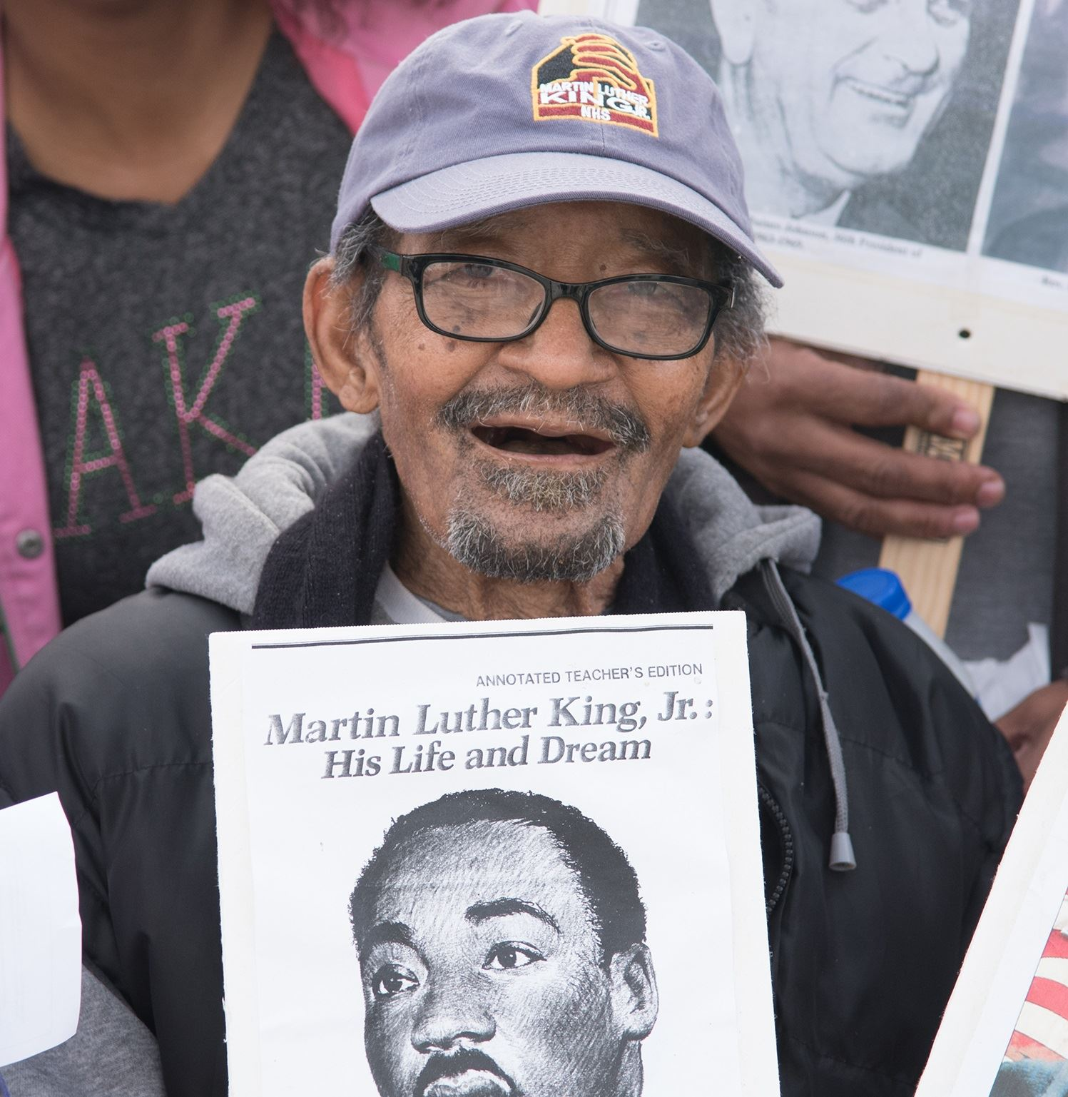 Harvey Miller at 2018 MLK March photo by Don Anders