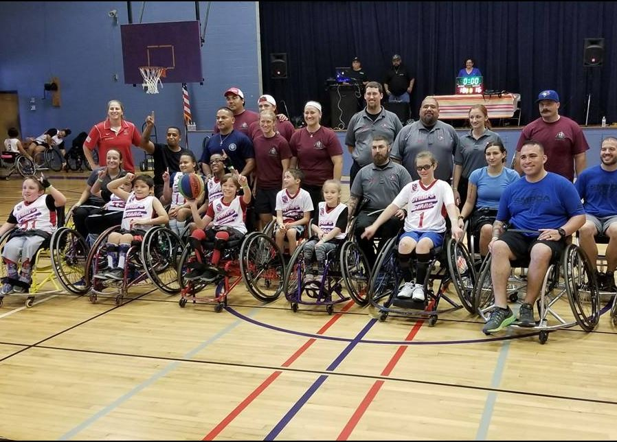 First Responders Wheelchair Athletes Group Photo from 2018 Game