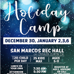 Holiday Camp 2020 Flyer