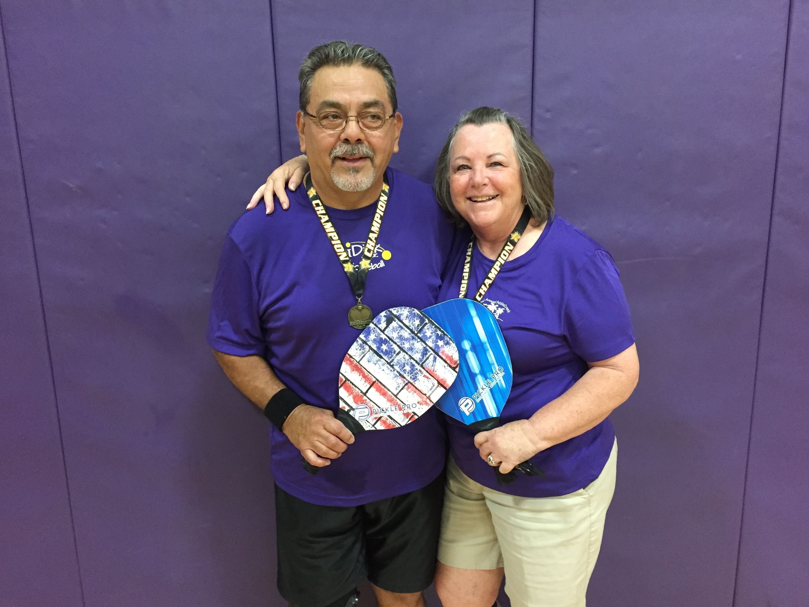 Robert and Glenda at the 2017 Pickleball Tournament