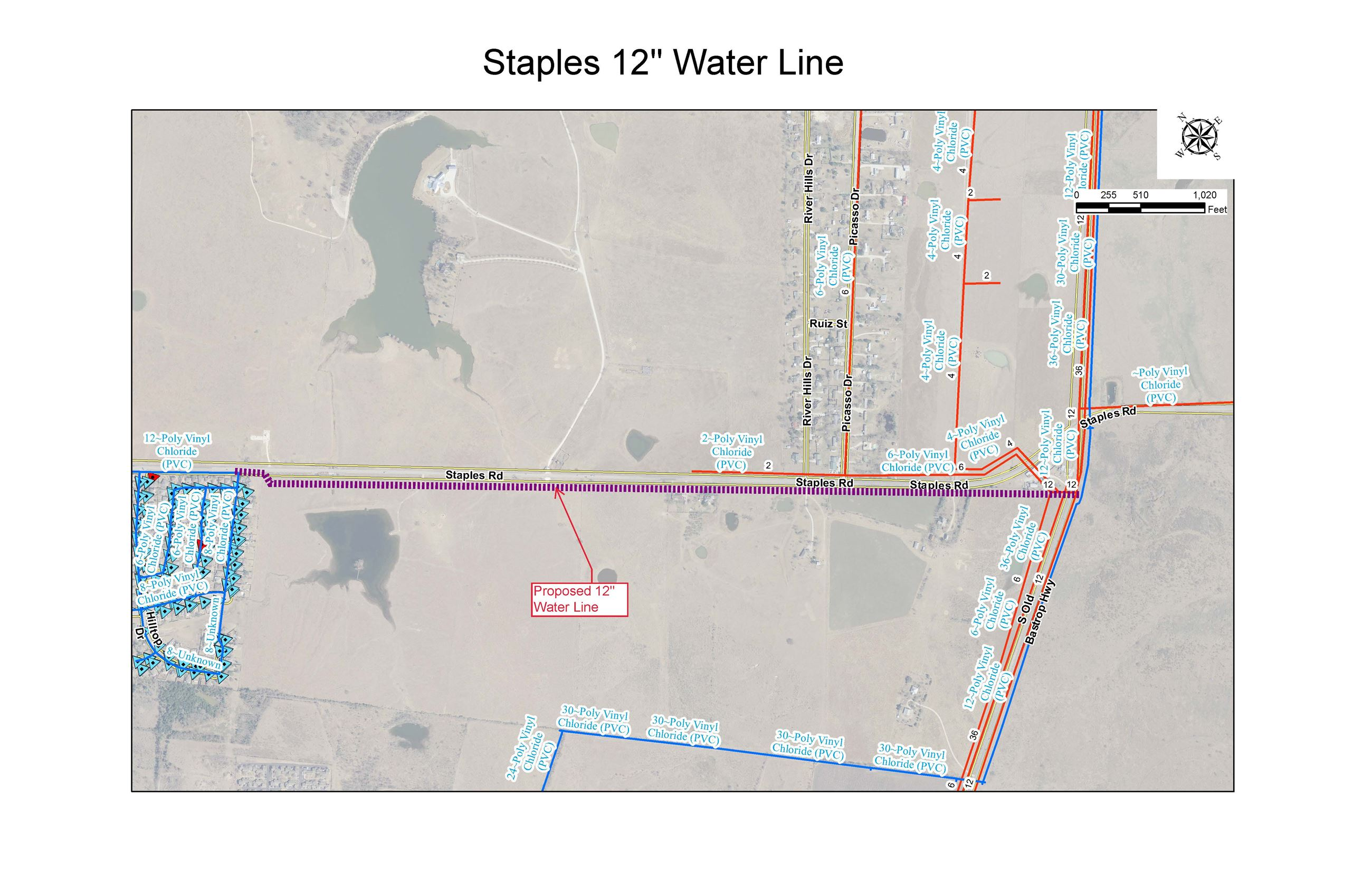 Staples - Location Map Water Line Project