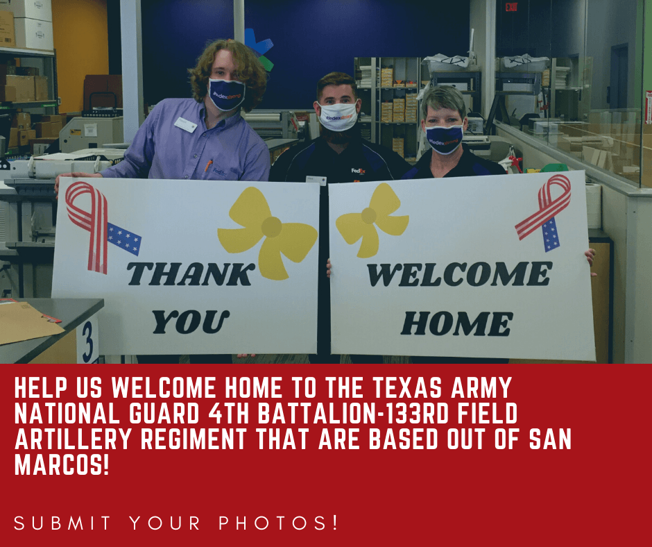 help us welcome home to the Texas Army National Guard 4th Battalion-133rd Field Artillery Regiment t