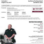 Fire Officer Instructor Flyer 2017