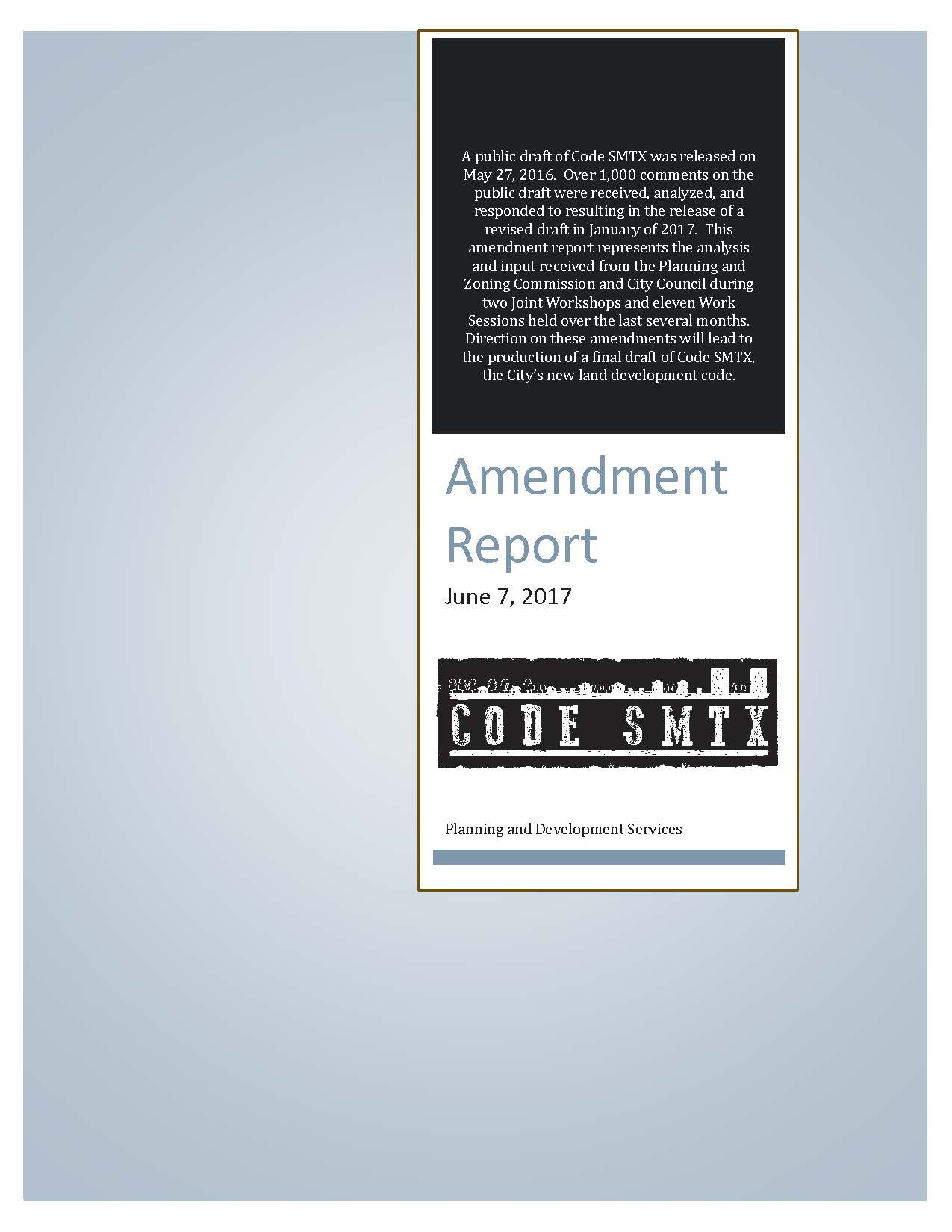 Front Page of the Amendment Report (jpg)