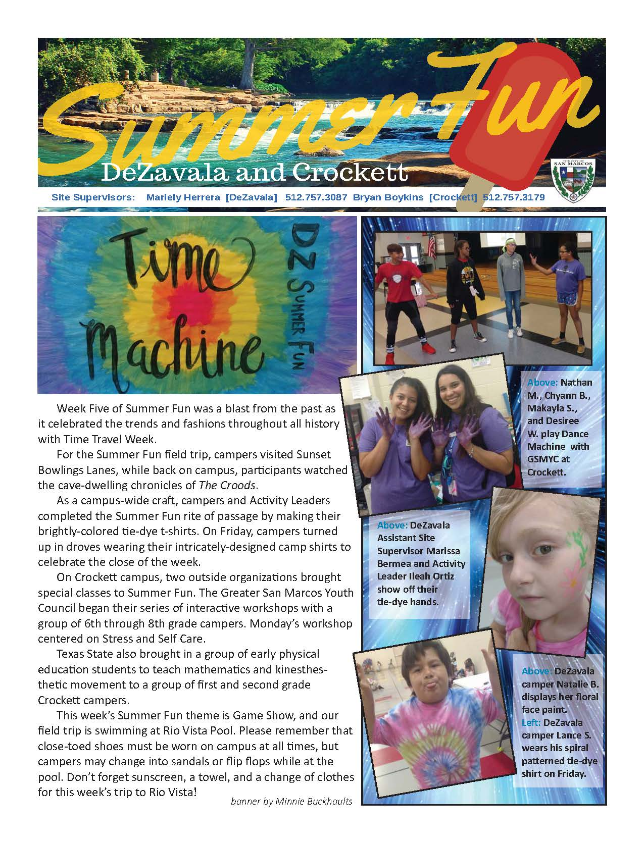 Summer Fun Week 5 Page 1