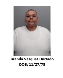Brenda Hurtado mugshot with her birthdate (08/15/1978)